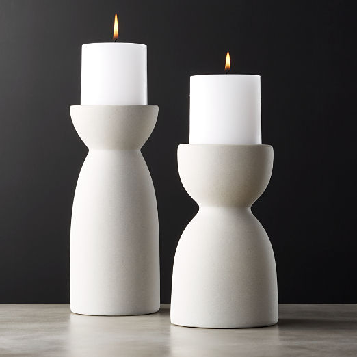 11c0111ca1c Borough Ceramic Pillar Candle Holders
