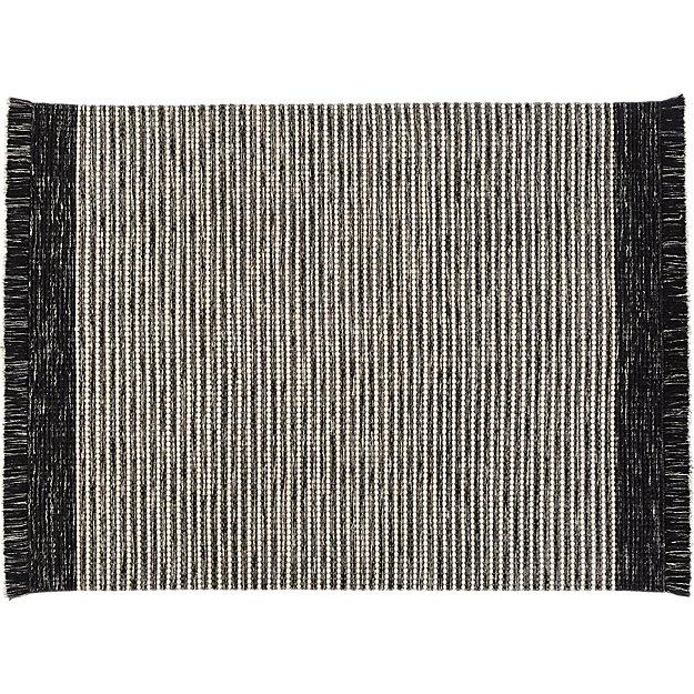 Black And White Tassel Rug: Boucle Black And White Fringe Rug 8'x10' + Reviews