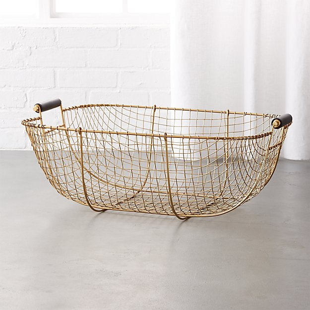Bounty Large Wire Basket + Reviews | CB2