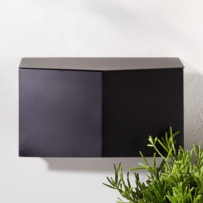 Bow Angled Black Wall Mounted Mailbox Reviews Cb2