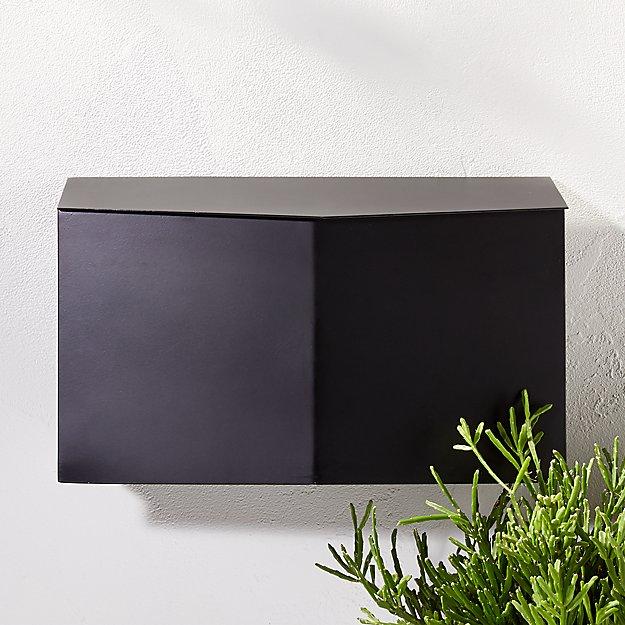 Bow Angled Black Wall-Mounted Mailbox - Image 1 of 3