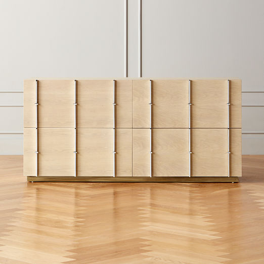 Bowen Oak Inlay Low Dresser