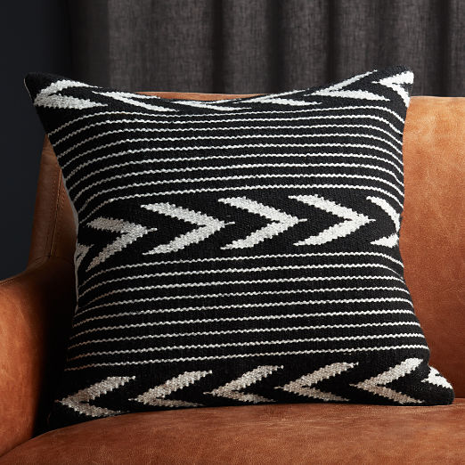 "20"" Bowman Black and White Pillow"