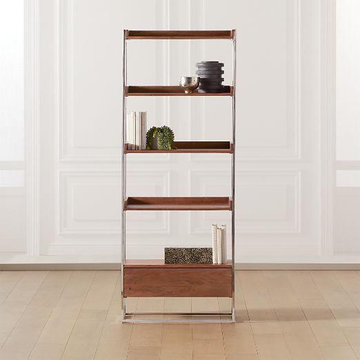 Brace Natural Wood Bookcase