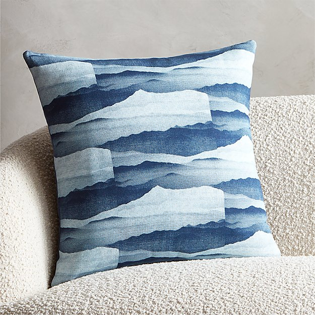 "20"" Brae Blue Pillow - Image 1 of 5"