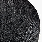 View product image Large Black Braided Jute Pouf - image 5 of 5