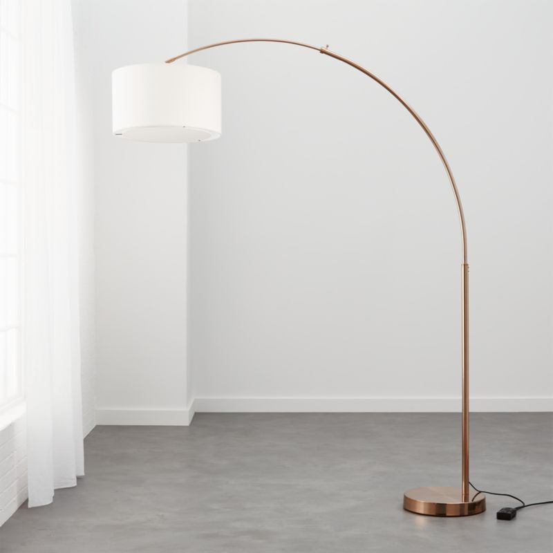 Octavia Floor Lamp Brass: Big Dipper Arc Brass Floor Lamp + Reviews