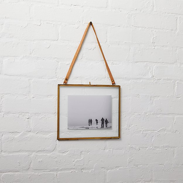 brass floating 5x7 picture frame + Reviews | CB2