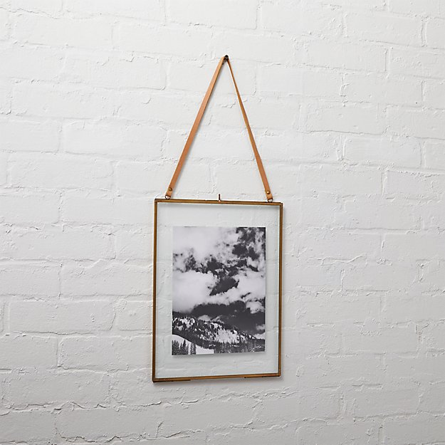 brass floating 8x10 picture frame + Reviews | CB2