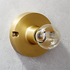 View product image brass flush mount light - image 1 of 12