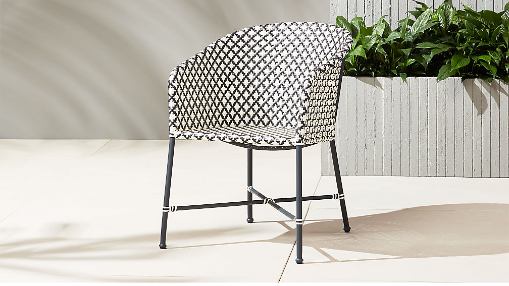 Brava Dining Lounge Grey Wicker Chair