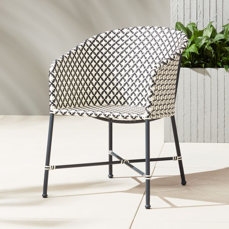 Good Brava Outdoor Wicker Dining Chair + Reviews | CB2