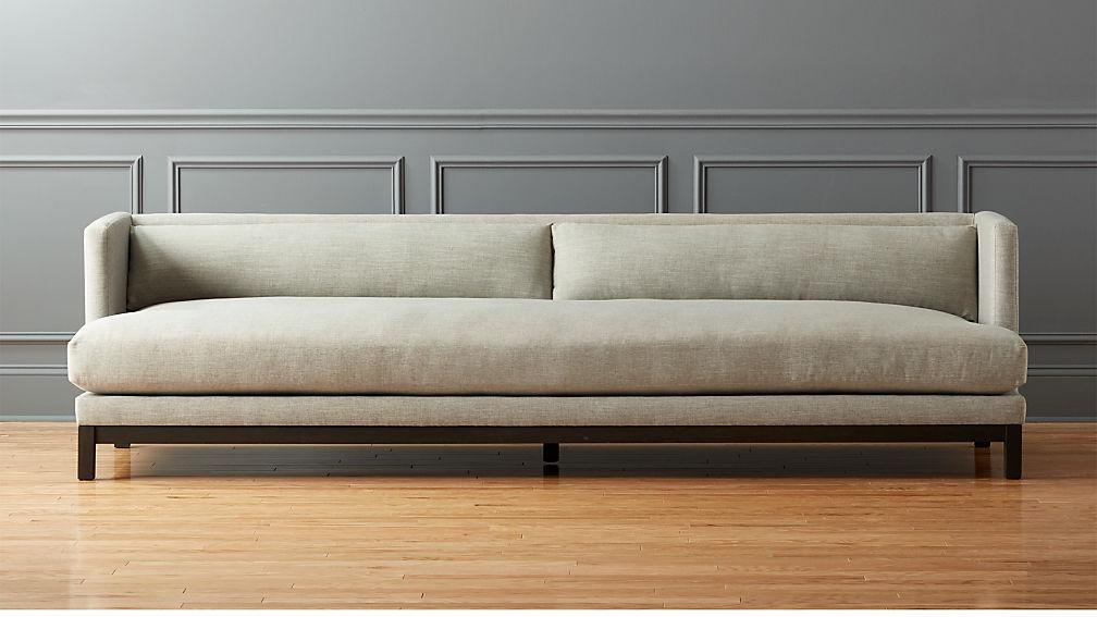 Attirant Brava Long Sofa + Reviews | CB2