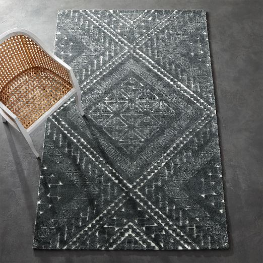 Brea Grey Patterned Rug 5'x8'
