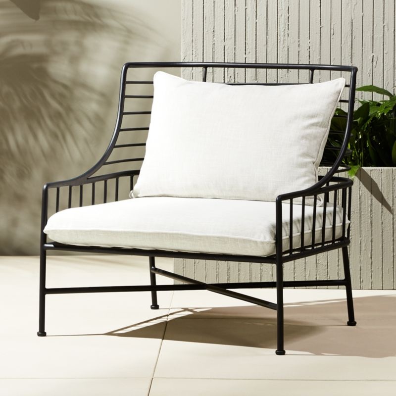 breton black metal chair - Black Outdoor Furniture CB2