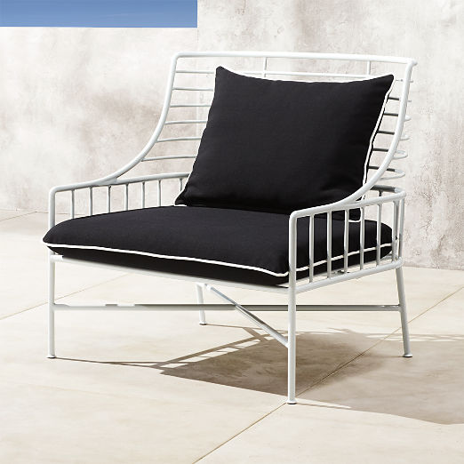 Breton White Metal Chair