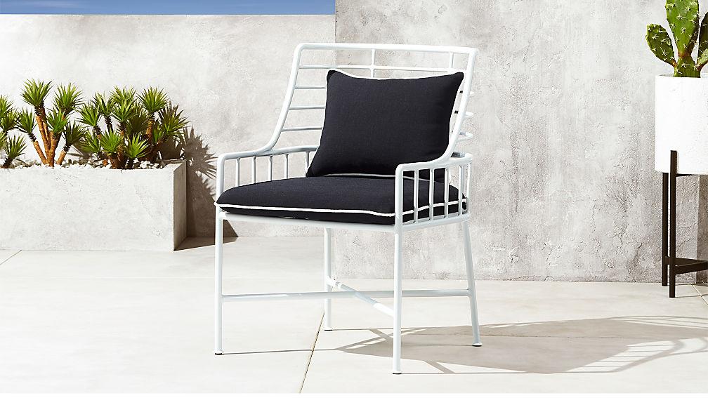 Breton White Metal Dining Chair - Image 1 of 7