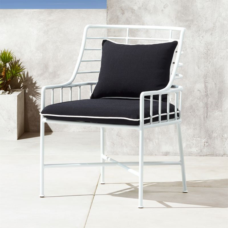 Breton White Metal Dining Chair