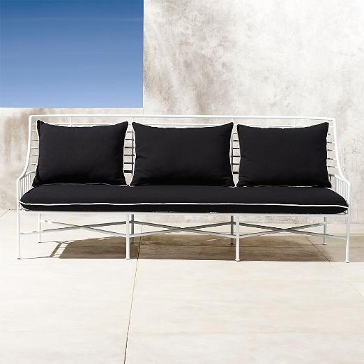 Breton White Metal Sofa