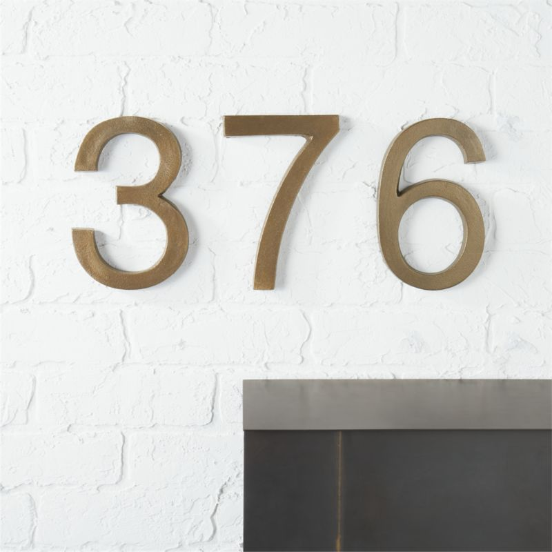 Bronze House Numbers CB - Cheap metal house numbers