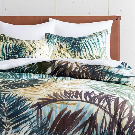 Brush Stroke Palm Duvet Cover