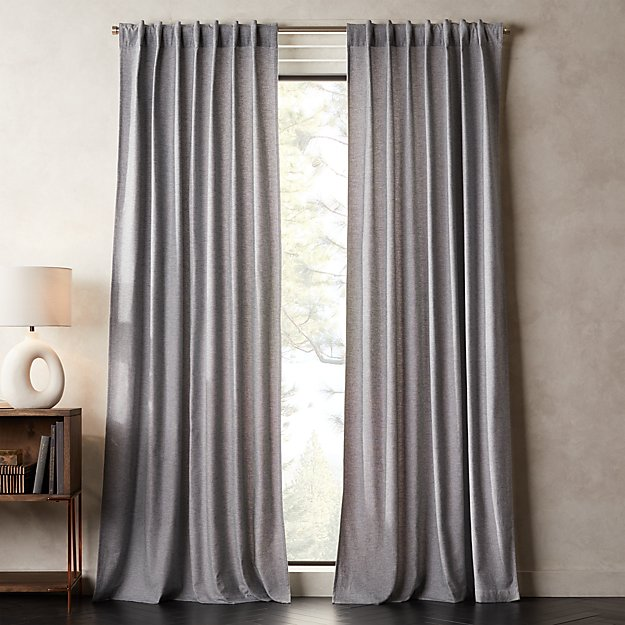 Brushed Cotton Flannel Houndstooth Curtain Panel - Image 1 of 2