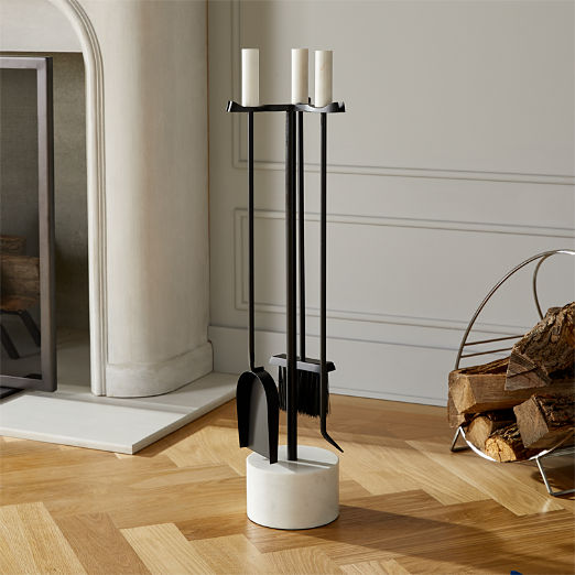 3-Piece Bryn Marble Fireplace Tool Set
