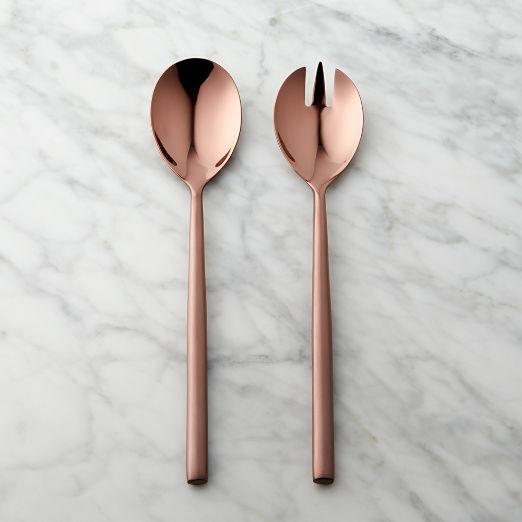 Rush Dark Bronze Slotted Serving Spoon