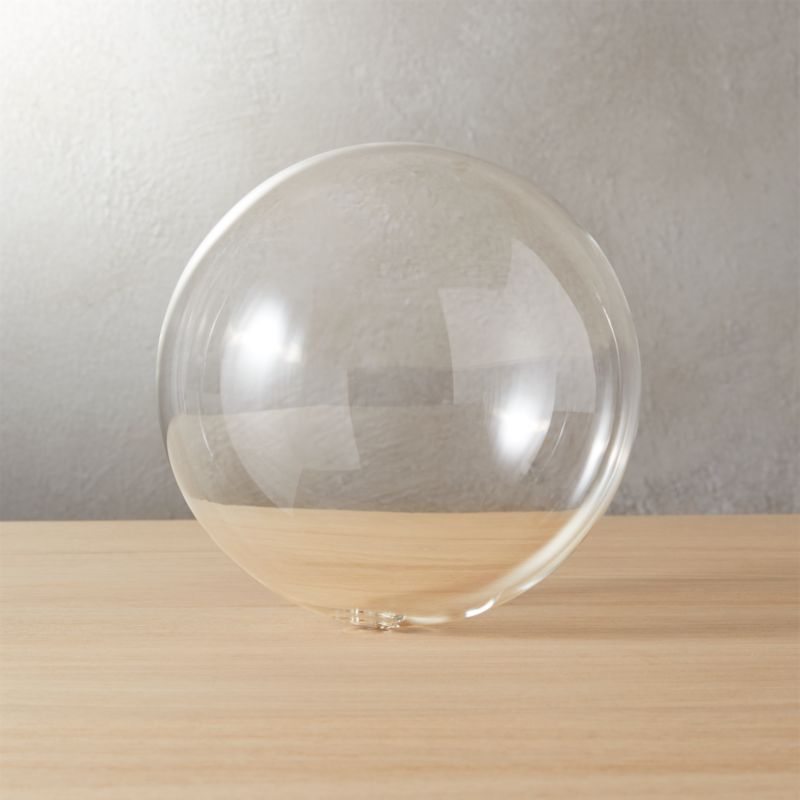Bubble Sphere Clear Large Reviews Cb2