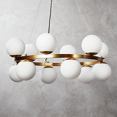 reputable site b0950 d141c Bubbles Brass Ring Pendant Light