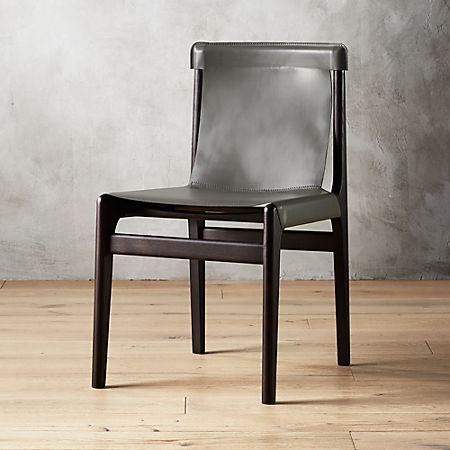 Awesome Burano Charcoal Grey Leather Sling Chair Uwap Interior Chair Design Uwaporg