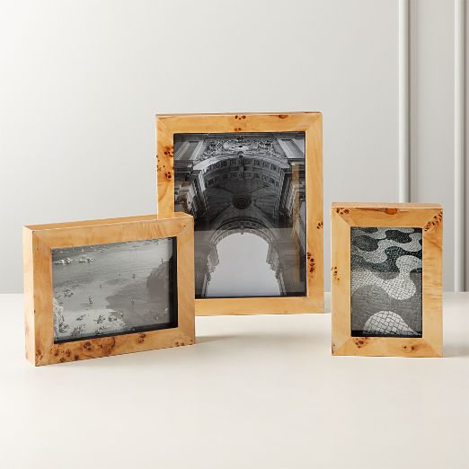 Burl Wood Picture Frames