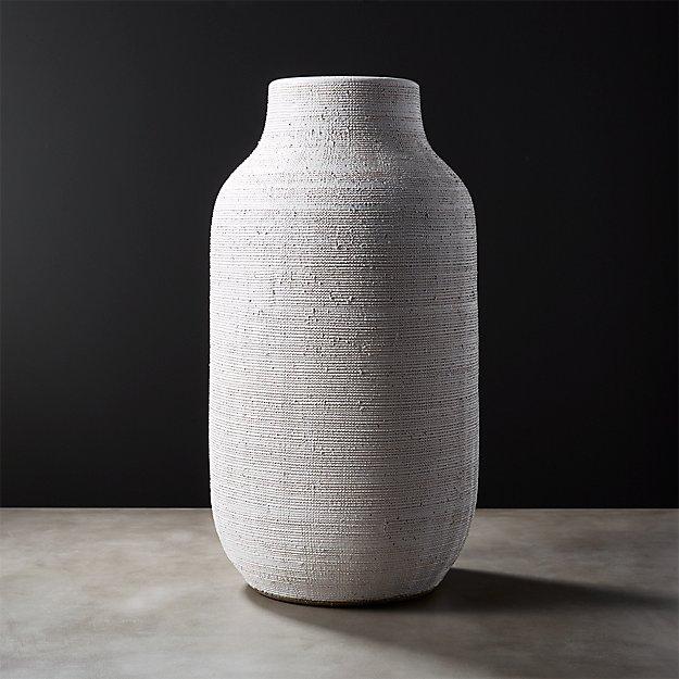 Burlap White Vase Reviews Cb2