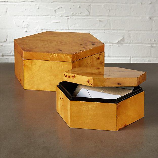 Burl Wood Large Storage Box + Reviews | CB2