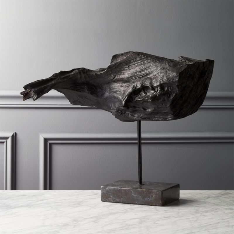 Standing Burnt Driftwood Statue Reviews Cb2