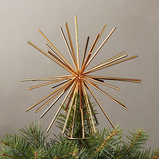 Burst Gold Tree Topper