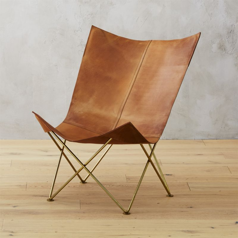 tripolina products leather palermo butterfly chair citizenry the handcrafted left chairs sling