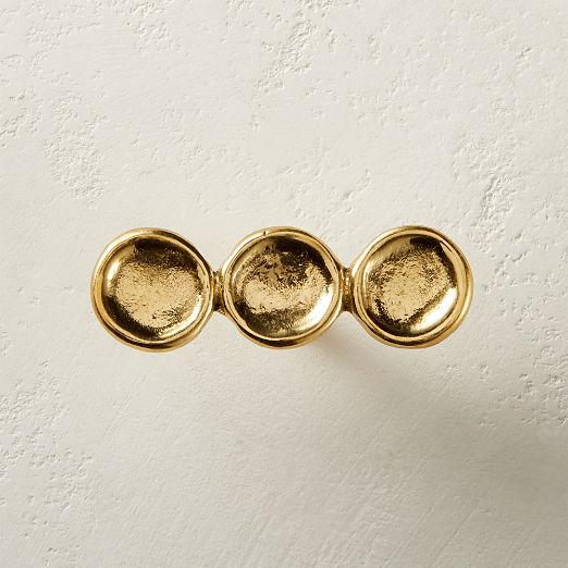 Button Brass Knob