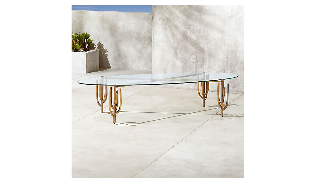 Cacti Brass Coffee Table + Reviews | CB2