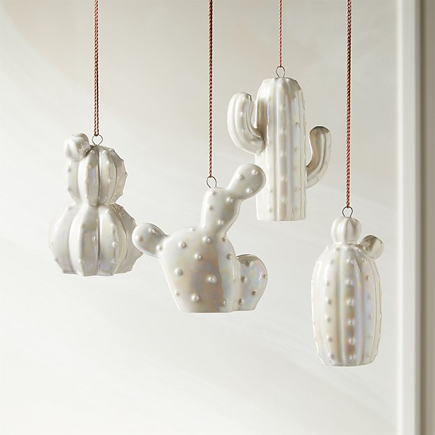 Luster Cacti Ornaments Set of 4 - Image 1 of 4