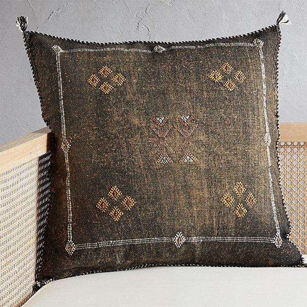 "23"" Cactus Silk Coffee Pillow - Image 1 of 4"