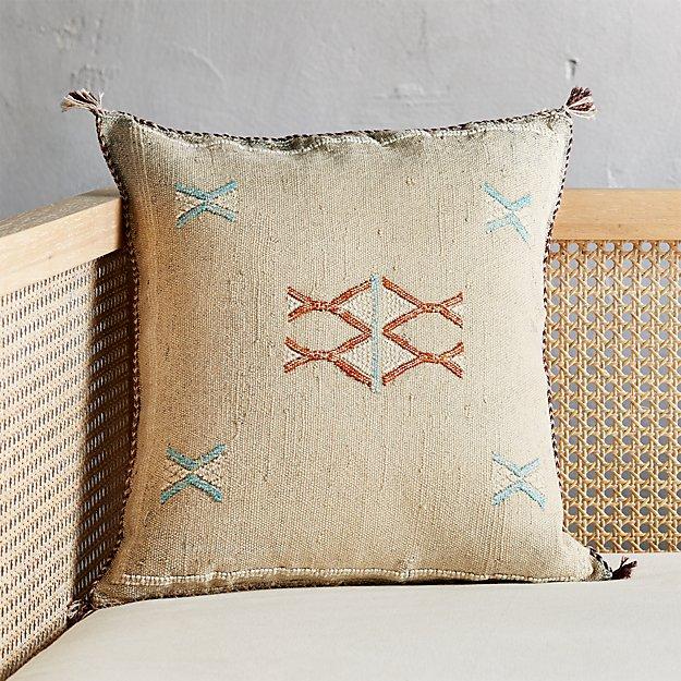 """18"""" Cactus Silk Grey Pillow - Image 1 of 5"""