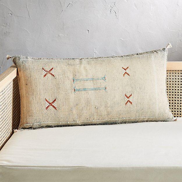 """36""""x16"""" Cactus Silk Grey Pillow - Image 1 of 6"""