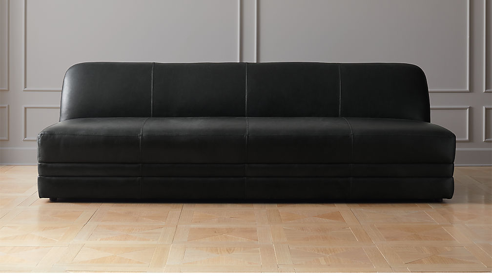 Cadet Black Leather Sofa