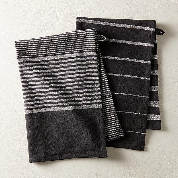 Cafe Stripe Dishtowels Set of 2 - Image 1 of 5