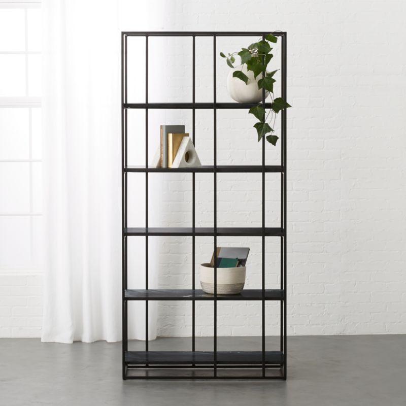 caged black marble bookcase   reviews