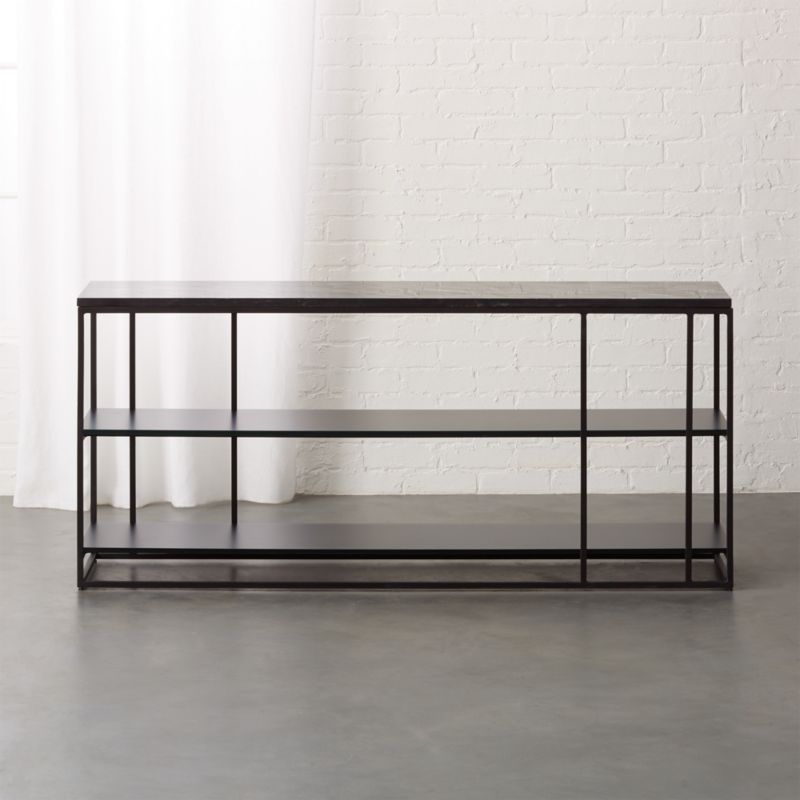 Caged Black Marble Media Console