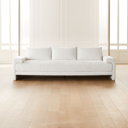 Camden White Sofa