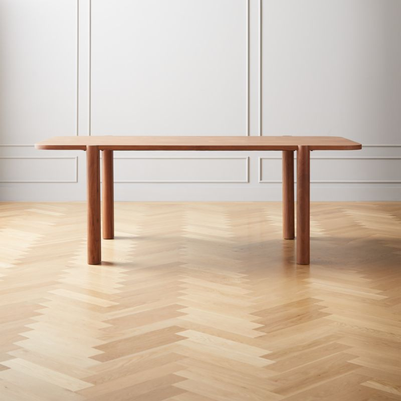 Camille Acacia Wood Dining Table Reviews Cb2