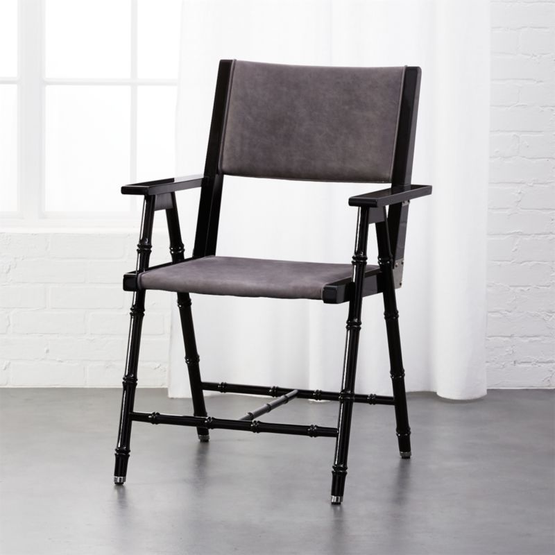 Campaign Black And Grey Chair + Reviews | CB2